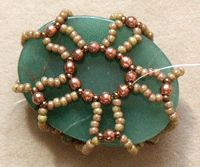 How to Bead an Easy Netted Bezel - Daily Beading Blogs - Blogs - Beading Daily