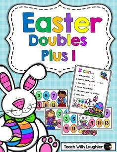 FREE Easter Doubles Plus One math station