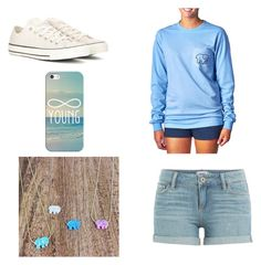 """""""A Day At The Boardwalk!"""" by danisag ❤ liked on Polyvore featuring Paige Denim, Converse, Casetify and Ivory Ella"""
