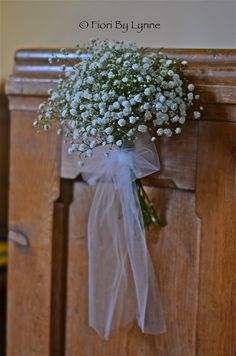 wedding church pew bows | ... design doubled as part of the table centres for the wedding breakfast