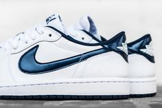 "Air Jordan 1 Retro Low OG ""White/Midnight Navy"" (Detailed Pics & Release Info) - EU Kicks: Sneaker Magazine"