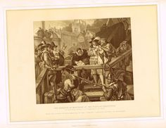 """Archer's Royal Pictures - """"THE MARQUIS OF MONTROSE AT THE PLACE OF EXECUTION"""" - Tinted Lithograph - 1880"""