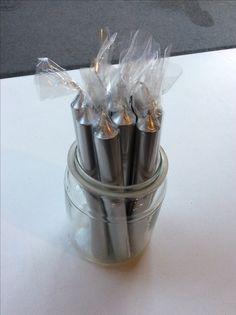 hopean hohtoiset kynttilät . 20cm . @kooPernu