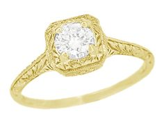 This Art deco engagement ring Vintage antique Sapphire engagement ring set yellow gold Unique Diamond wedding women Bridal Anniversary gift is just one of the custom, handmade pieces you'll find in our engagement rings shops. Filigree Engagement Ring, Gold Diamond Wedding Band, Deco Engagement Ring, Antique Engagement Rings, Designer Engagement Rings, Diamond Bands, Diamond Art, Vintage Diamond, Filigree Ring