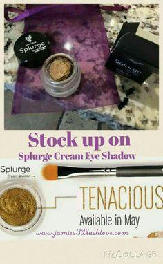 B-E-A-UTIFUL - Tenacious! The newest member to Younique's Splurge Cream Eye Shadow  www.jamies3Dlashlove.com