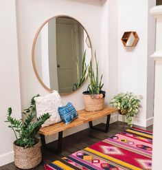 What You Can Do About Entryway Decor Small Apartment Therapy Starting In The. - For the Home - Apartment Decor Decoration Hall, Apartment Entrance, Small Apartment Entryway, Apartment Living, Living Room Decor, Bedroom Decor, Bedroom Bed, Modern Entryway, Entryway Ideas