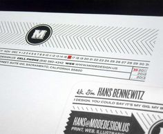 """Designed by Mode Design   Country: United States  """"The idea of the card was originally based on restrictions of the more affordable one sided, one color letterpressed card. The rest of the system was built off of that, with small accents of red added throughout the system to mimic the red business card edge."""""""