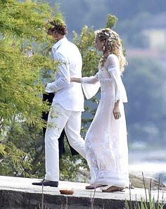 7.31.15  Pierre Casiraghi and Beatrice Borromeo, in Alberta Ferreti, at their pre-wedding celebration