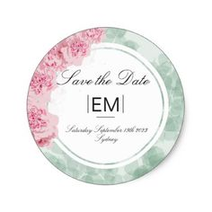 Elegant Chic Pink Floral Wedding Save the Date Classic Round Sticker - spring wedding diy marriage customize personalize couple idea individuel Elegant Wedding Themes, Pink Wedding Theme, Diy Wedding, Spring Wedding, Cool Stickers, Round Stickers, Elegant Chic, Elegant Styles, Floral Wedding Save The Dates