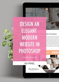 Hey, Pixels! In this week's tutorial, I'll be showing you how to design this elegant website in Adobe Photoshop! This design is modern, trendy, and sophisticated. Feel free to follow along with the video tutorial or download the free PSD files.