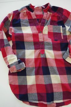 Stitch Fix Fun2Fun Colibri Plaid Tab-Sleeve Cotton Shirt | Life by Ky Blog