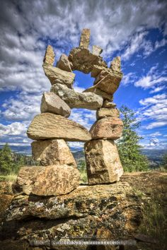 Inukshuk, Okanagan Valley British Columbia, CanadaI live in this valley - st O Canada, Canada Travel, Balance Art, Roadside Attractions, Land Art, Stone Art, Rock Art, British Columbia, Beautiful World