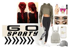 """""""Go Sporty"""" by itsmebr1 ❤ liked on Polyvore featuring adidas Originals, Juicy Couture, NARS Cosmetics, MICHAEL Michael Kors and BaubleBar"""