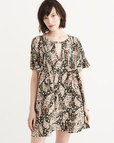 Abercrombie & Fitch Short Sleeve Trapeze Dress