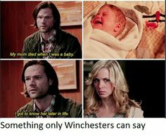 10x20 Angel Heart (1x01, 5x13) - Something only Winchesters can say - Sam and Mary Winchester - Haha :)