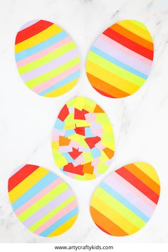 Looking for easy Easter egg crafts for kids to make at home or in the classroom? This easy rainbow Easter egg craft is perfect for keeping toddlers and preschoolers busy this Easter. Download the free printable Easter egg template, plus find other easy Easter kids crafts here! | Easy Preschool Rainbow Crafts Printables | Easter Activities for Preschoolers  | Easter Crafts for Kids Videos | Rainbow Crafts for Kids #EasterEggCrafts #KidsCrafts #PreschoolCrafts #PreschoolActivities #CraftVideos