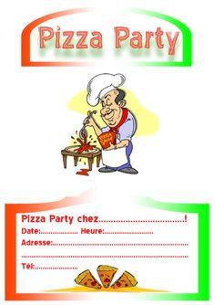 Invitation pizza party