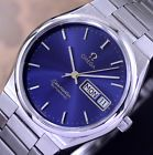 OMEGA SEAMASTER AUTOMATIC CAL 1020 DATE BLUE DIAL DRESS MEN'S WATCH
