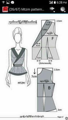 Costura e ModelalModelalgemp i gem Coat Patterns, Dress Sewing Patterns, Blouse Patterns, Clothing Patterns, Pattern Draping, Bodice Pattern, Jacket Pattern, Pattern Drafting Tutorials, Sewing Tutorials