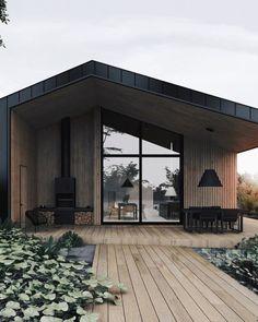 House styles architecture cabin Ideas for 2019 Design Exterior, Modern Exterior, Door Design, White House Architecture, Wood Architecture, Style At Home, Facade House, House In The Woods, Modern House Design
