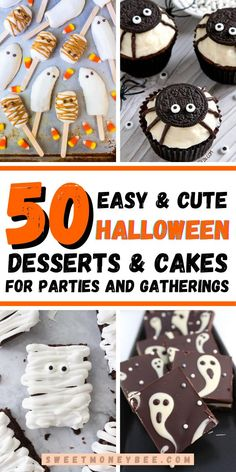 Healthy Halloween Snacks, Halloween Desserts, Halloween Cakes, Easy Halloween, Halloween Party, Candy Corn Cupcakes, Snickers Cake, Pumpkin Cheesecake Bars, Halloween Sugar Cookies