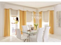 Custom Window Treatments (roman shades, draperies, top treatment) in Group 4 Fabrics or We do COM (any fabric of your choice) contact us for a quote : Sewn in Diy Interior, Interior Design Living Room, Living Room Designs, Living Room Blinds, Living Room Decor, Bedroom Decor, Custom Window Treatments, Window Styles, Curtain Designs