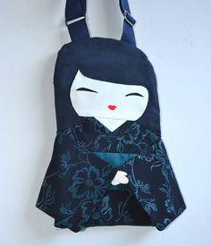 Japanese Doll Handbag Handmade Unique in by NinuMiluBagDolls,