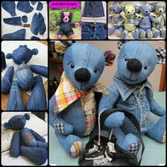 Do you have some old jeans lying somewhere? You can make some adorable teddy bears using old jeans. They are nice handmade gifts for your kids or someone