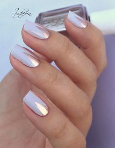 Nude metallic triangle