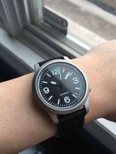 Seiko Custom Automatic Mod Sinn 656 Style Homage Pilot Military Aviator Yobokies #Seiko #Mens