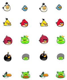 DiY Angry Birds Magnets for Angry Birds Party