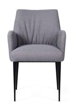 Chaise à accoudoirs et piétement métallique ENORA par Mobitec.