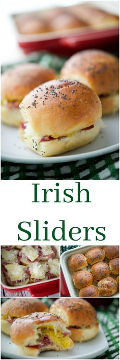 These Irish Sliders made with corned beef, melted Dubliner Irish cheese, sauerkraut and spicy Irish mustard on potato slider rolls are a must have for your next gathering.