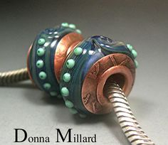 For your Pandora and Troll type bracelets, 2 beads completely fabricated by me from start to finish,  In my etsy, click me!