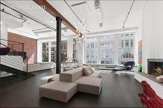 Manhattan living room with a street view [2052x1368]