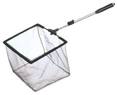 Laguna Pond Skimmer Fish Net with 24-Inch Telescopic Handle by Laguna. $14.52. Frame is square and the soft netting is fish friendly. Extendable 24-inch aluminum shaft allows you to adjust the reach, giving you precisely the right length. String on the handle for easy storage hanging. Reversible argyle raincoat. Net measures 6-inch length by 8-inch height by 6-inch width. This mini pond skimmer fish net provides a wide variety of features for making maintenance ...