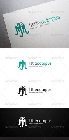 Little Octopus Logo - Animals Logo Templates