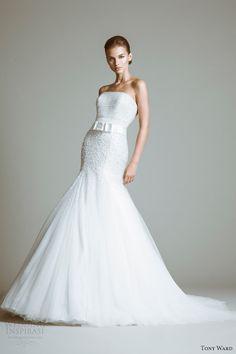tony ward bridal 2014 gloria strapless wedding dress