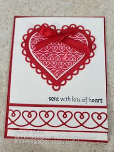 Becky's Stampin' Studio: Traditional Red Heart Heart Images, Simple Designs, Stampin Up, Red And White, Traditional, Studio, January, Simple Drawings, Stamping Up