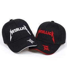 ccc3044c414 Extra Off Coupon So Cheap New Fashion Metallica Black Embroidered Baseball  Cap Adjustable Men hip hop cap
