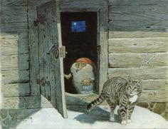 Harald Wiberg   (Cats are suspicious of faeries, but they are congenial with gnomes)