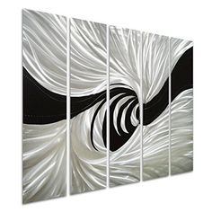 Pure Art Silver Worm Hole Abstract Metal Wall Art Decor Black and Silver Hanging Sculpture of 5 Panels Modern Design of 34 x 24 >>> Check this awesome product by going to the link at the image. (This is an affiliate link) Abstract Metal Wall Art, Metal Wall Art Decor, Home Wall Decor, Personalized Wall Art, Black Decor, Creative Decor, Love Art, Modern Design, Tapestry