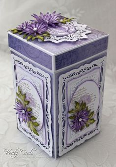 Get inspired in the Heartfelt Creations Project Gallery. Free scrapbook layouts, altered art projects and more with instructions. Exploding Box Card, Heartfelt Creations Cards, Tea Box, Craft Box, Toy Craft, Pretty Box, 3d Cards, Marianne Design, Altered Art