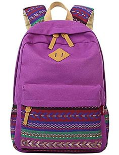 Winner Casual Lightweight Canvas School Backpack Fashion Cute Bag for Teen Young Girls Boys Purple WINNER http://www.amazon.com/dp/B016W3B3SG/ref=cm_sw_r_pi_dp_kw16wb1H7F022
