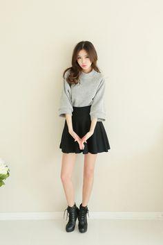 S. Yeun - Corrugated Knit Skirt