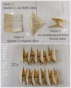 Hallo ihr Lieben, heute gibt es nochmals ein kleines DIY mit Buchseiten...dieses Mal wieder etwas anders... Die kleinen Papierkunstwerk...