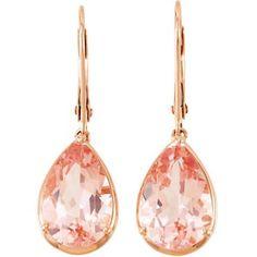 "GENUINE MORGANITE EARRINGS... I need these!!! Seriously, ""MORGANite!"" :)"