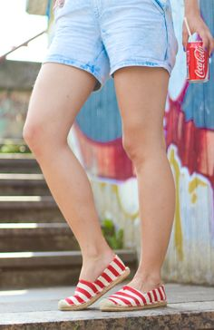 fashion blog, style, street, street style, dress, model, smile, blond, girl, slovakia, clothes, sunglasses, outfit, ootd, casual, colors, summer, espadrilles, sneakers, denim, graffiti, coca cola, shorts, dungarees