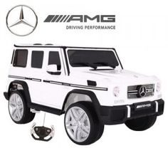Licensed Ice White Mercedes Kids Electric Jeep The G Wagon is one of the coolest looking jeeps in the world already, but this version takes it to a whole new level of cool with the ice white paint job White Jeep, G Wagon, White Paints, Jeeps, Little Ones, Electric, Ice, Cars, Autos