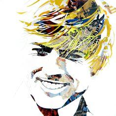 """Saatchi Art Artist: Ines Kouidis; Paper 2013 Collage """"Robert"""""""